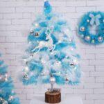 45cm/60cm Height Pink Christmas Tree & Glitter Balls Set Xmas String Light Decorations – 45cm