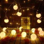 Hanging LED Light String Lamp Bulb for Home Yard Christmas Party Decoration – Warm White//1.5 meters with 10 lights